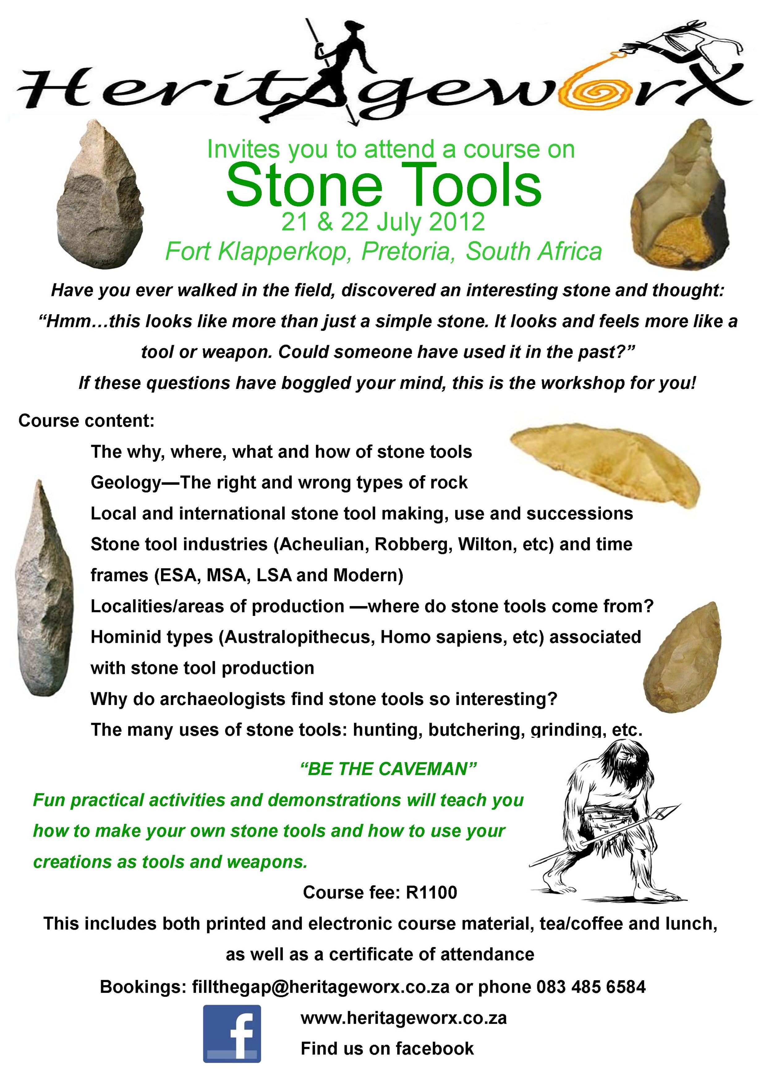 2012 Stone tool course